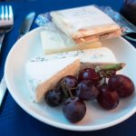 Cheese Assortment with grapes and crackers