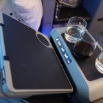 Tray table opening